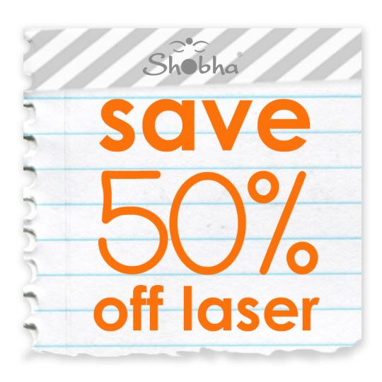 save 50 off laser