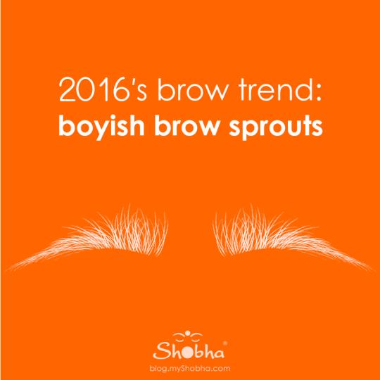 2016 brow trends