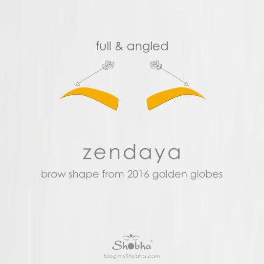 zendaya brows