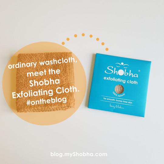 shobha exfoliating cloths