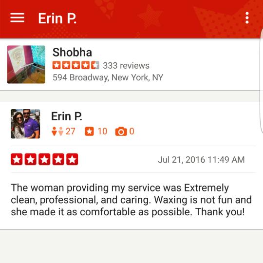 shobha yelp review