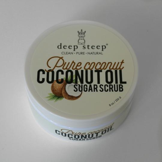 pure coconut oil sugar scrub