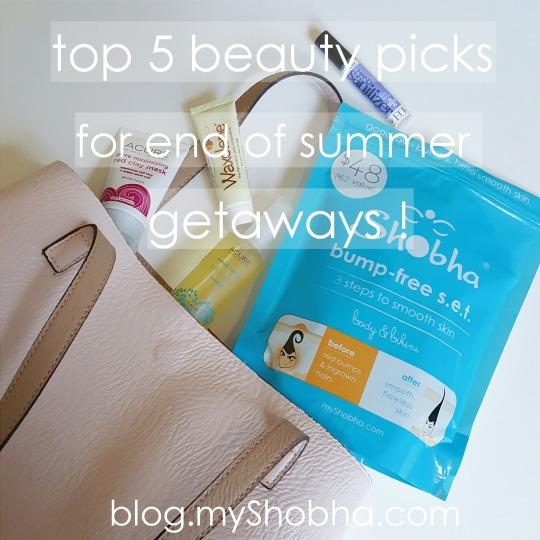 top beauty picks for end of summer getaway