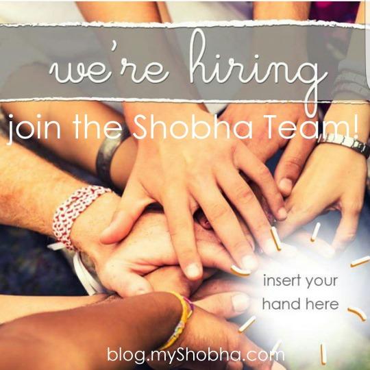 we're hiring join the shobha team