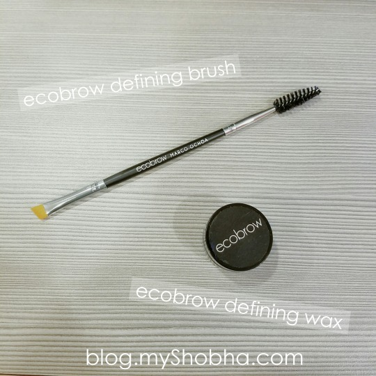 ecobrow defining brush and wax