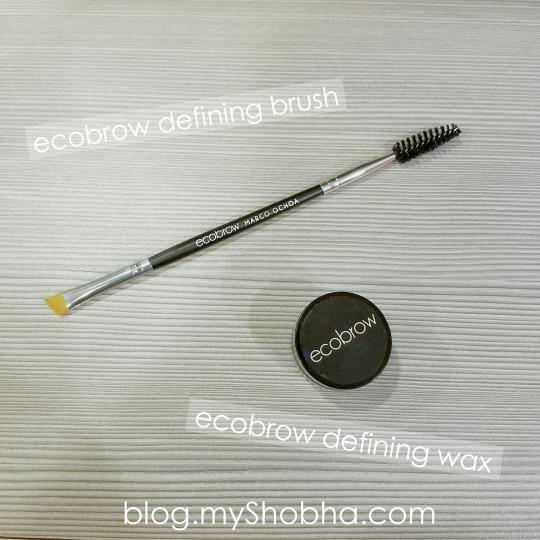 ecobrow defining brush and wax