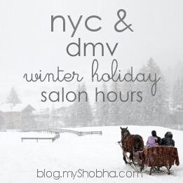 winter holiday salon hours