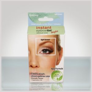 godefroy instant eyebrow tint + light brown