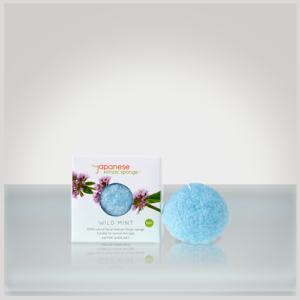 the japanese konjac sponge wild mint konjac puff